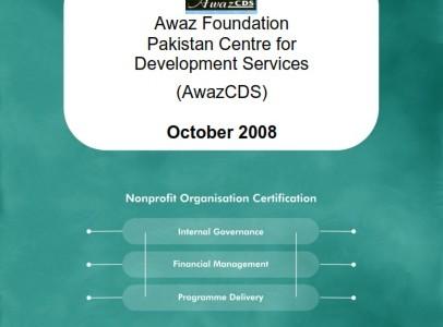 Evaluation Report Awaz Foundation Pakistan: Centre for Development Services