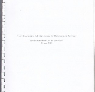 Financial Statement for the year ended June 30, 2009