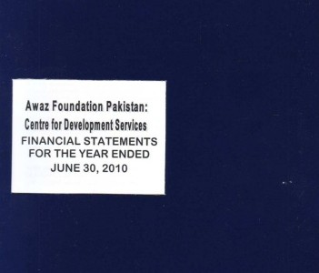 Financial Statement for the year ended June 30, 2010