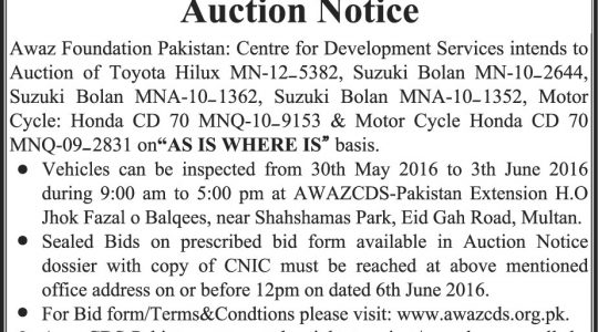 Auction Notice Dossier