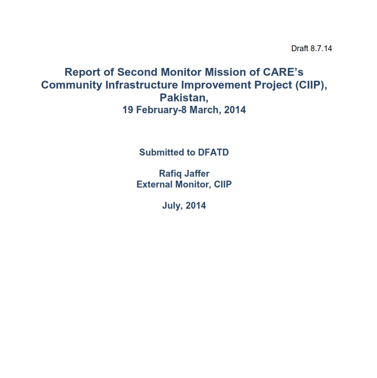 REVISED REPORT- SECOND MONITOR MISSION- RJ EDITS- JULY 2014_#7063662_v1