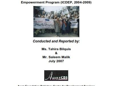 Evaluation Report  Integrated Community Development & Empowerment Program (2004-09)
