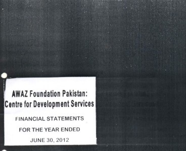 Financial Statement for the year ended June 30, 2012