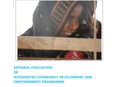 EXTERNAL EVALUATION  OF  INTEGERATED COMMUNITY DEVELOPMENT AND EMPOWERMENT PROGRAMME