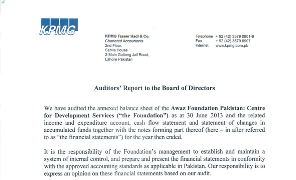 Auditors' Report to the Board of Directors - June 30, 2013
