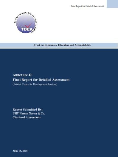 AWAZ CDS - TDEA Report